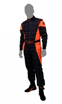 Skindor Quadoverall CIK-FIA Level 2 Schwarz Orange
