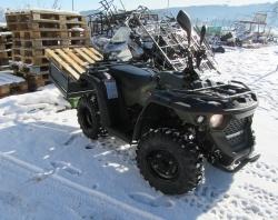 ATV Arbeits Quad Trucky 220 inkl. AHK und Lademulde  ( Keine Helm Pflicht )
