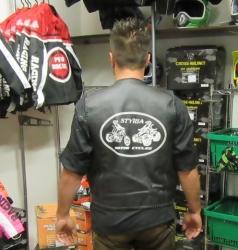 Styria Motor Cycles© Biker Kutte, Weste 100% Echteleder