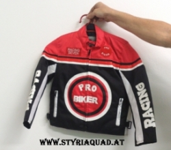 Styriaquad Kinder Motorrad / Quad Jacke in Rot
