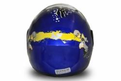 Full Face Helmet Blau