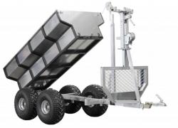 ATV Forst Anhänger ECO 700 inkl. abnehbarer Box und Kran